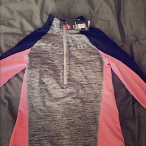 Under Armour Cold gear workout pullover.